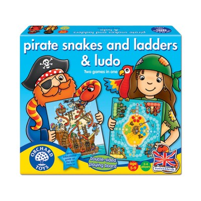 Orchard Toys, Pirate Snakes And Ladders & Ludo
