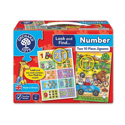 Orchard Toys, LOOK & FIND PUZZLES - NUMBER